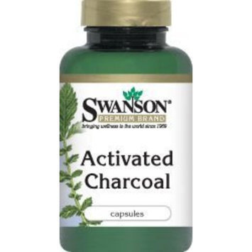 Swanson Premium Activated Charcoal 260 mg 120 Caps