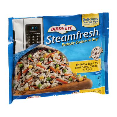 Birds Eye Steamfresh Selects Brown & Wild Rice With Corn, Carrots & Peas