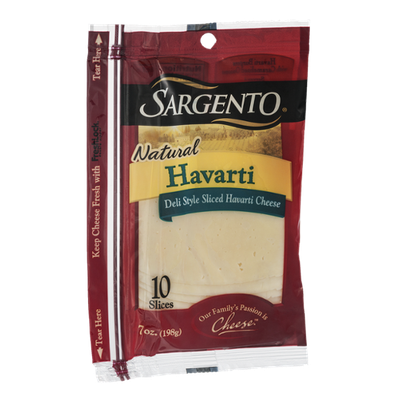 Sargento Natural Havarti Cheese Slices - 10 CT