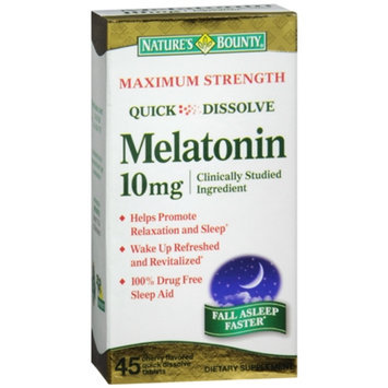 Nature's Bounty Quick Dissolve Melatonin 10mg Tablets, 45 ea