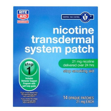 Rite Aid Nicotine Transdermal System, Step One, 21mg Patch