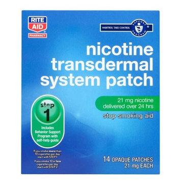 Rite Aid Nicotine Transdermal System, Step One, 21mg Patch