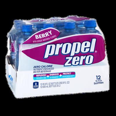 Propel Zero Berry Zero Calorie Nutrient Enhanced Water Beverage - 12 CT
