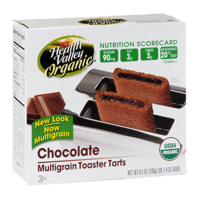 Health Valley Organic Multigrain Toaster Tarts Chocolate - 6 CT