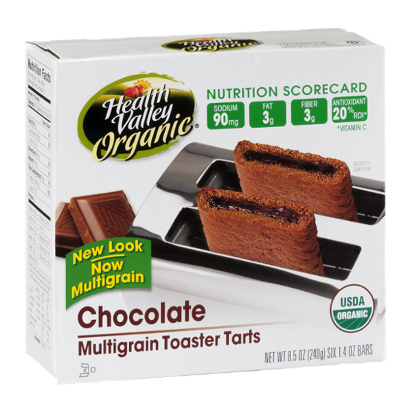 Health Valley Organic Multigrain Toaster Tarts Chocolate - 6 CT