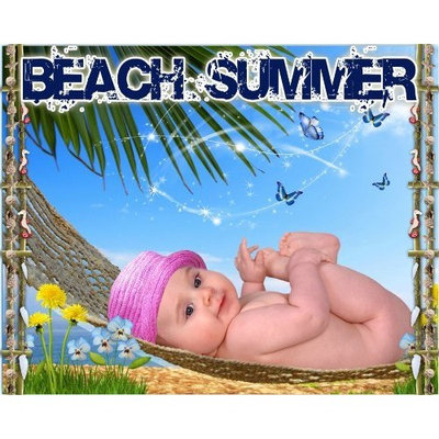 Goya C3 Beach Summer Digital Backgrounds Backdrops Children Baby Templates Holiday