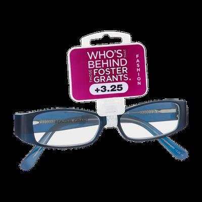 Foster Grants Non-Prescription Glasses Fashion +3.25 Kate BLU
