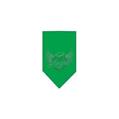 Ahi Angel Heart Rhinestone Bandana Emerald Green Small