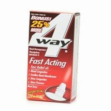 4 Way 4-Way Fast Acting Nasal Spray (25% Bonus) .63 fl oz (14.8 ml)