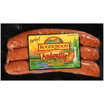 Roger Wood Cajun Smoked Andouille Sausage, 3ct