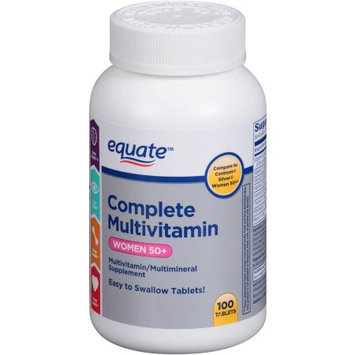 Equate Complete Multivitamin Women 50+ Multivitamin/Multimineral Supplement, 100 count