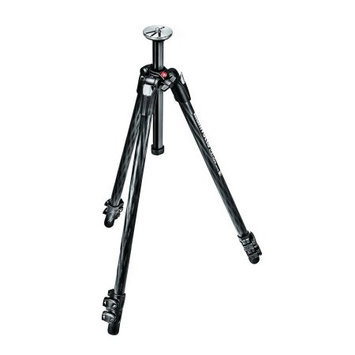 Manfrotto 290 Xtra 3-Section Carbon Fiber Tripod, Holds 11 lbs, Max Height 65.2