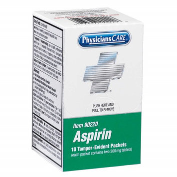 PHYSICIANSCARE 90220G Aspirin, Tablet,325mg, PK20