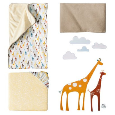 Skip Hop Giraffe Safari Complete 4-Piece Crib Bedding Set