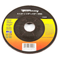 Forney 72299 Grinding Wheel Type 27 Steel Flex with 7/8-Inch Arbor AC36-BF 4-1/2-Inch-by-1/8-Inch