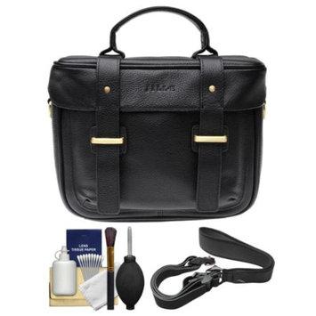 Jill-E Jill-e Juliette All Leather DSLR Camera Bag (Black) with Camera Strap + Cleaning Kit