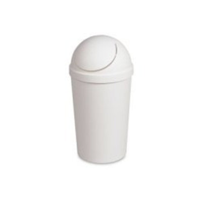 Sterilite White 12 Qt Swing-Top Wastebasket