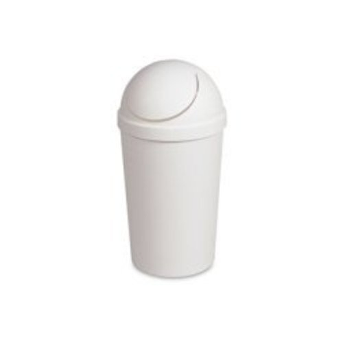 Sterilite White 12 Qt Swing-Top Wastebasket