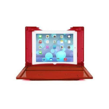 Red DOCKr 2.1 iPad AIR and SAMSUNG 10.1 Tablet Docking Station + Keyboard COMBO- Bluetooth Speakers & Keyboard + Battery
