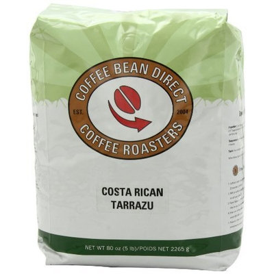 Coffee Bean Direct Costa Rican Tarrazu, Whole Bean Coffee, 5-Pound Bag