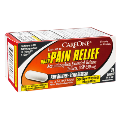 CareOne 8 Hour Pain Relief Pain Reliever-Fever Reducer - 24 CT