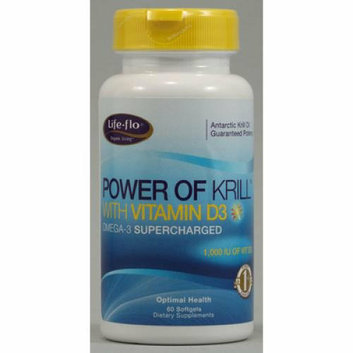 Life-Flo Power of Krill with Vitamin D3 60 Softgels