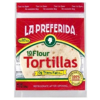La Preferida 10-Inch Flour Tortillas, 10-Count (Pack of 12)