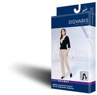 Sigvaris Soft Opaque 841CSLW35 15-20mmHg Closed Toe Calf Length Small Long Women Nude