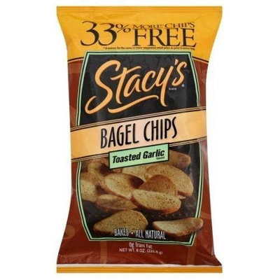 Stacy's Bagel Chips, Toasted Garlic, 8-Ounce Bags (Pack of 12) ( Value Bulk Multi-pack)