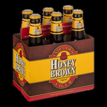 Honey Brown Lager Beer Bottles - 6 CT
