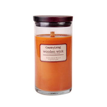 Candles International Inc. Country Living Wooden Wick Candle