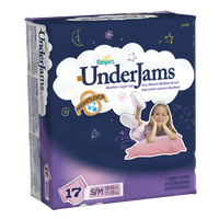 Pampers UnderJams Absorbent Underwear for Girls Size S/M