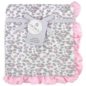Triboro Quilt Co. Carter's Pink Cheeta Print Valboa Blanket