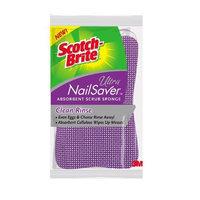 3M 3M Scotch-Brite Ultra NailSaver U-5001 Clean Rinse Absorbent Scrub Sponge, 1-Pack