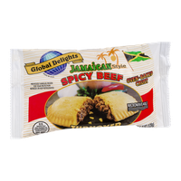 Global Delights Jamaican Style Spicy Beef Turnover