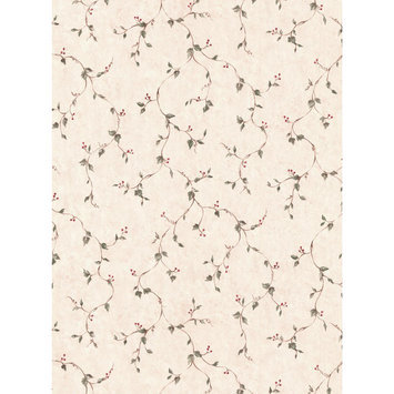 York Wallcoverings, Inc. York Wallcoverings Hearts & Crafts III Rose Hip Vine Wallpaper