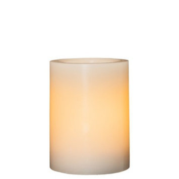 Threshold 3x4 Wax Pillar with 5 Hour Timer - Cream