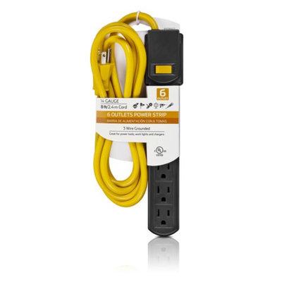 Philips 6-Outlet 8' Power Multiplier, Black