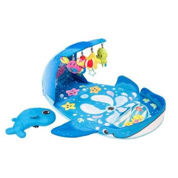 Infantino Wonder Whale Kicks & Giggles Activity Gym - Blue