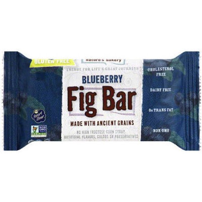 Nature's Bakery Blueberry Fig Bar, 1 oz, 2 count, (Pack of 12)
