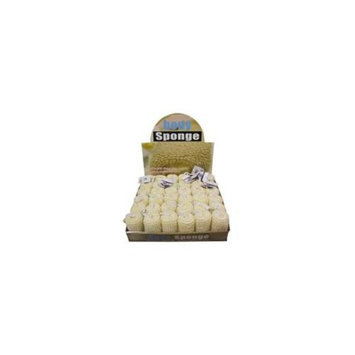 Bulk Buys GC900-36 Beige Loofah Bath Sponge - Pack of 36
