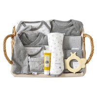 Burt's Bees Baby Burts Bees Baby Newborn 5 Piece Gift Set with Basket - Heather Grey 0-