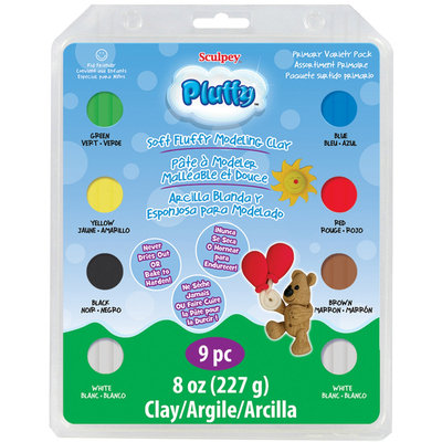 Polyform NOTM481492 - Sculpey Pluffy Clay Variety Pack