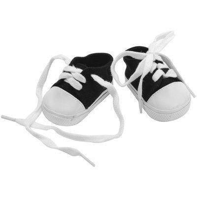 Fibre Craft 414505 Springfield Collection Tennis Shoes-Black & White