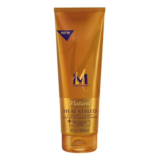 Motions Heat Styled Straight Finish Leave-In Conditioner, 8 fl oz