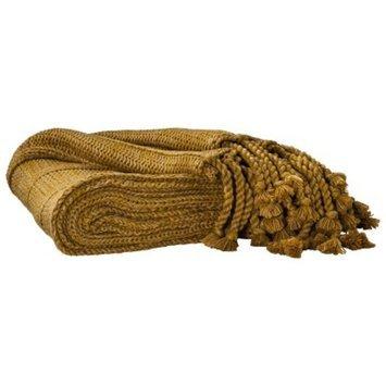 Threshold Knit Tassle Throw - Gold Rush