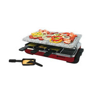 Swissmar Classic Raclette 8-Person Party Grill with Granite Top - Red