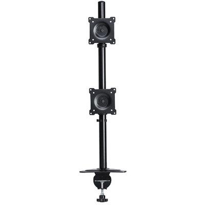 DoubleSight Displays DoubleSight Dual Monitor Flex Arm - Vertical Style, Tilt/Pivot/Swivel Adjustments, 75mm / 100mm VESA Compliant - DS-230