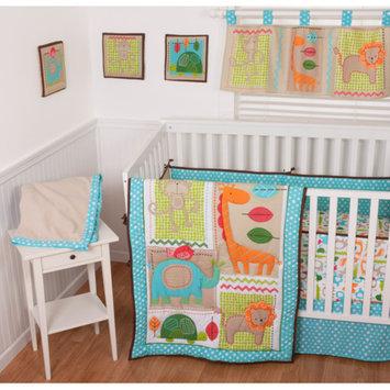 Sumersault Jungle Dance 10-Piece Nursery in a Bag Crib Bedding Set with Bumper