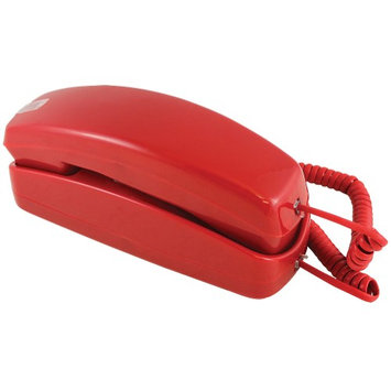 Golden Eagle Electronics Trimline Corded Telephone - Design From 60s With Modern Electronics (Red)